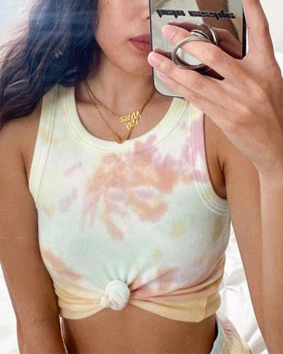 Casual Comfy At Home Tie Dye Vests