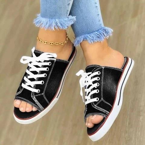 Flat Heel Holiday Slippers