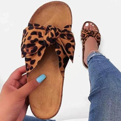 Flip Flop Bow Flat With Slip-On Beach PVC Slippers