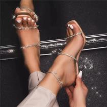 Crystal High Heels Woman Sandal Shoes