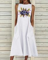 Crew Neck Women Dresses A-Line Daily Dresses