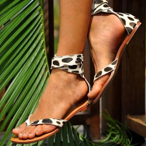 Womens Flip-flops Flat Heel Artificial Leather Sandals
