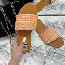 Flat With Braided slippers Toe Slip-On Slippers
