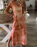 Bohemian V Neck Vacation Beach Maxi Dress