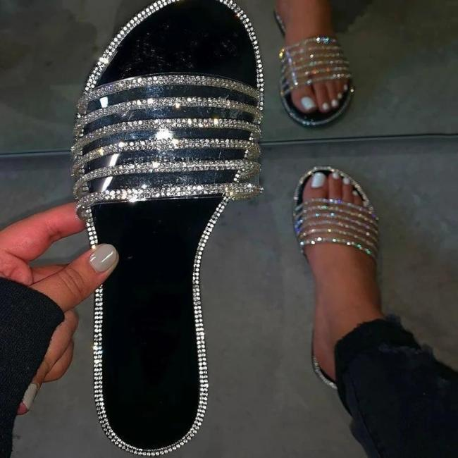 Slip-On Flat With Flip Flop PVC Slippers