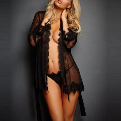 WOMEN SEXY LACE LINGERIE + THONG
