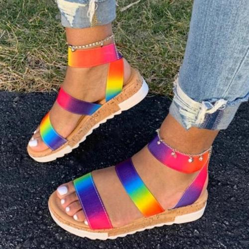 Open Toe Slip-On Casual Casual Sandals