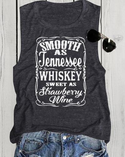 Smooth As Jennessee Summer Casual Sports Vests