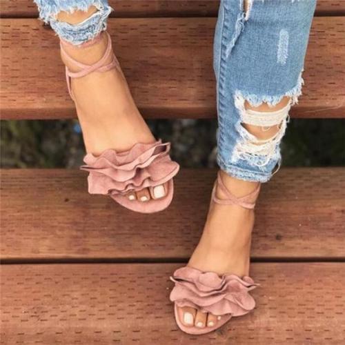 Women Shoes Summer Sandals Cross Lace-Up Sandals