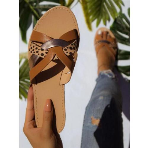Women's Cancun Tan Lines Cheetah Sandals