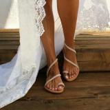 Women Summer Handmade Flip Flops Beach Wedding Sandals