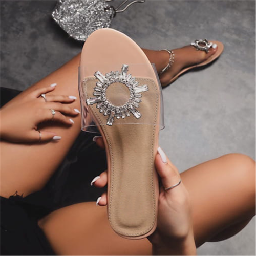 3D Flip Flop Slip-On Flat With Plain Casual Slippers