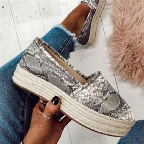 Slip-On Round Toe Low-Cut Upper Plain Sneakers