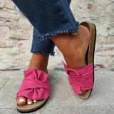 Colorful Flat Heel Slippers