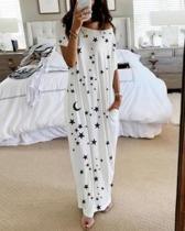 Short Sleeve Print Loose Casual Dress