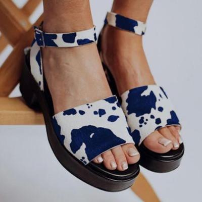 Summer Platform Buckle Sandals