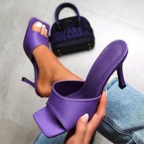 Fashion purple high heel sandals Slippers