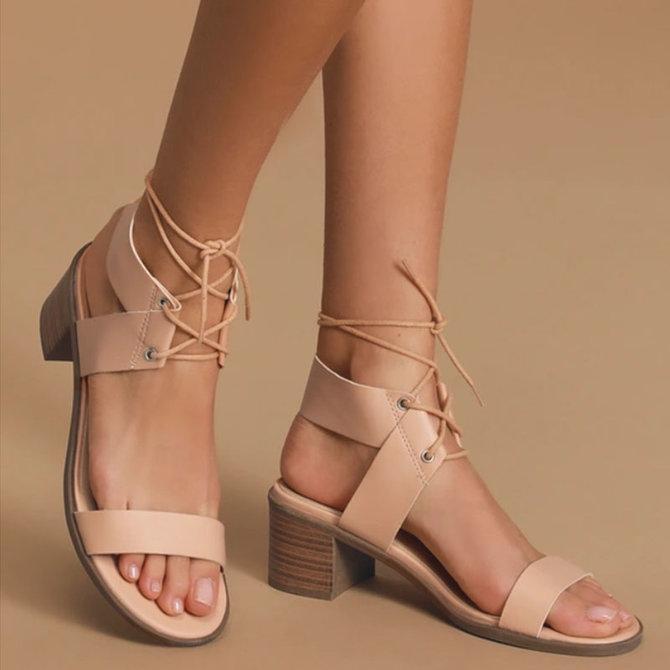 Pi Clue Tassel Seaside Block Heel Sandals