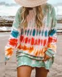 Casual Long-sleeve Loose Home Sweatshirt Mini Dresses