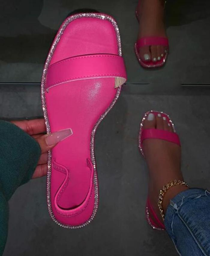 Flat With Flip Flop Slip-On Gradient Slippers