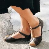 Closed Toe T-Strap Ankle Strap Sandals Vintage Shoes