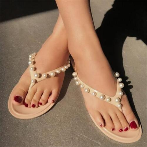 Pearl Slip-On Flat With Summer Slippers
