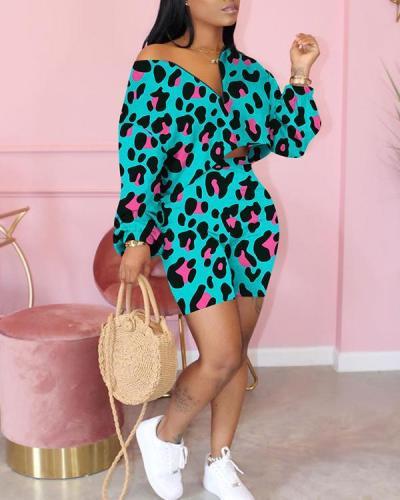 Fashion V-neck Pullover Shorts Set