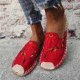 Women Breathable Canvas Comfy Flat Slippers