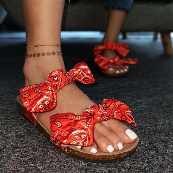 Bow Flat Heel Sandals