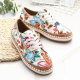 Women Folkways Printing Comfy Wearable Casual Loafers