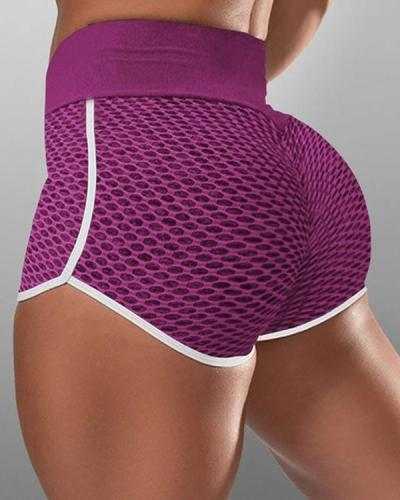 Jacquard High-waist Hip-wrapped Running Shorts