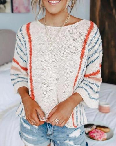 Flodress Bat Flare Sleeve Thin Sweater