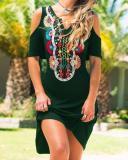 Printed Short Sleeve Dresses