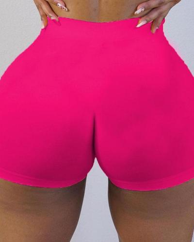 Fashion Sexy Sportswear Skinny Solid Shorts