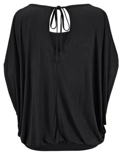 Black Animal Casual Shirts & Tops