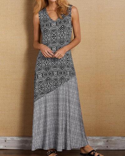 Fashion Bohemian Sleeveless Maxi Dress