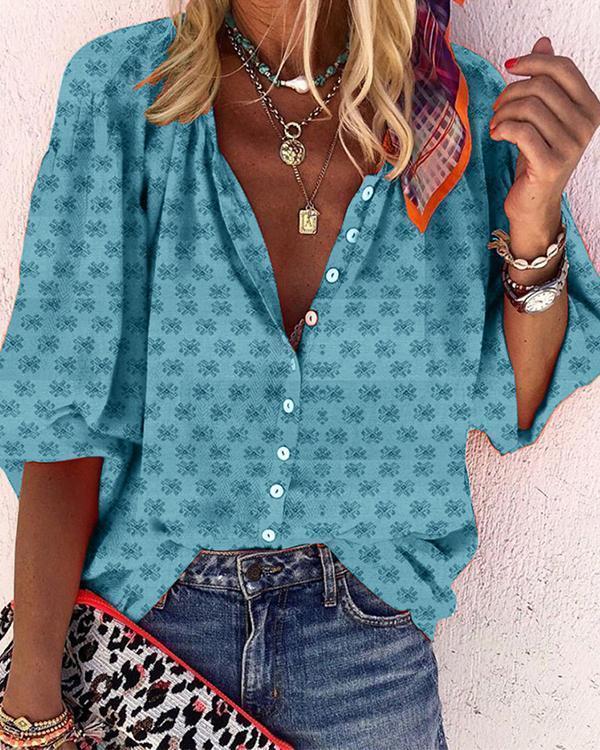 Women Printed Vintage Shirts & Tops