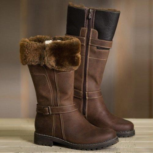 Women Keep Warm Comfortable Martin Boots Zipper Snow Boots