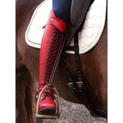 Women Horse Riding Booties Casual Lace-Up Boots