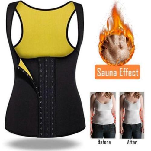 Neoprene Black Tank Reduce Polyester Women Tummy Waistline Trainer