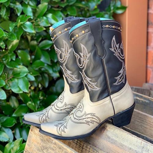 Color Block Cowgirl Boots