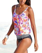 Printed Sexy Tankini Swimsuit Plus Size Bathing Suit