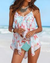 3Pcs Set Swimsuit Bandage Cover Up Sexy Backless Tankini