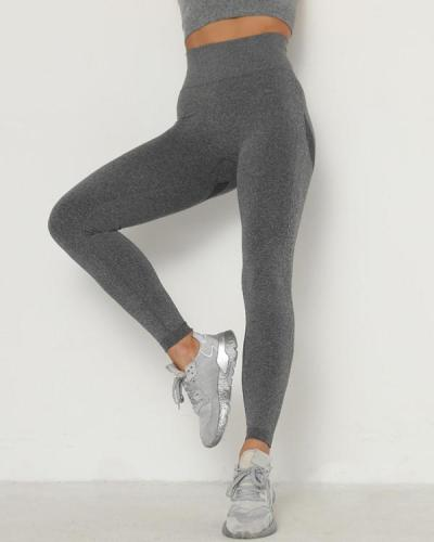 Solid Color Full Length Sports Leggings