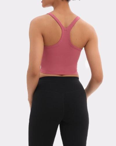 (With Padded)Comfortable Yoga U-Neck  Plain Sports Vest Glamor