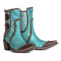 Women Rivet Back  Zipper Boots