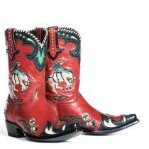 Women Low Calf Slip On Boots