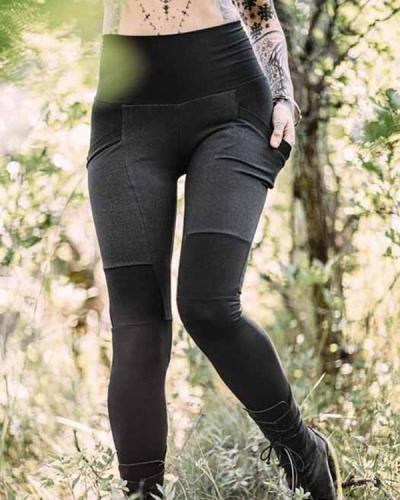 Women's Autumn Pocket Leggings Pants