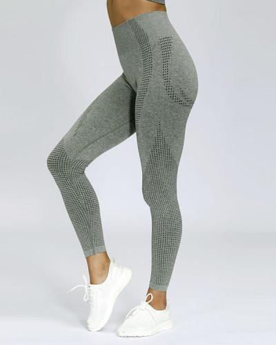 Quick Drying High Waist Yoga Leggings Full Length Latest Fashion