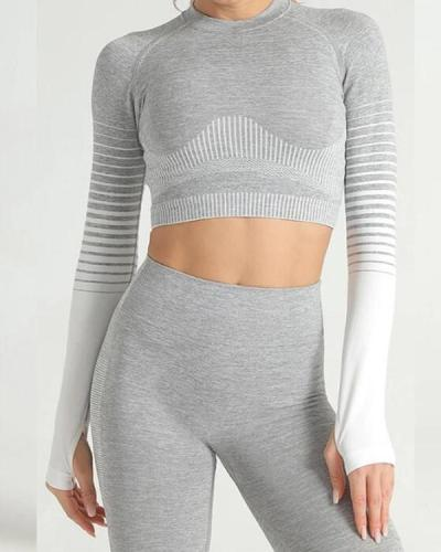 Women's Seamless Clothing Long Sleeve